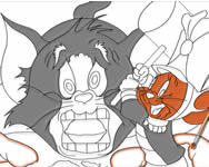 Tom the nut cracker coloring page Tom �s Jerry j�t�kok ingyen